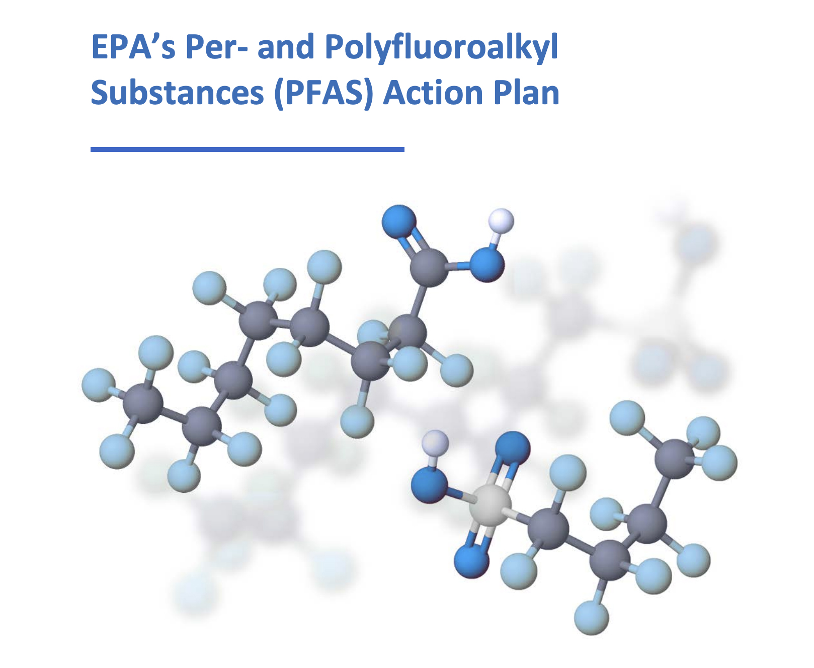 This image shows the cover of the EPA's PFAS Action Plan.