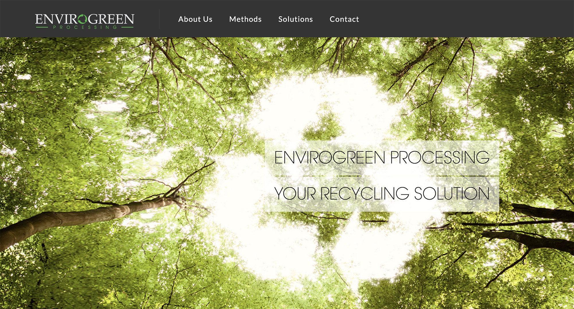 This is a picture of EnviroGreen Processing's website.