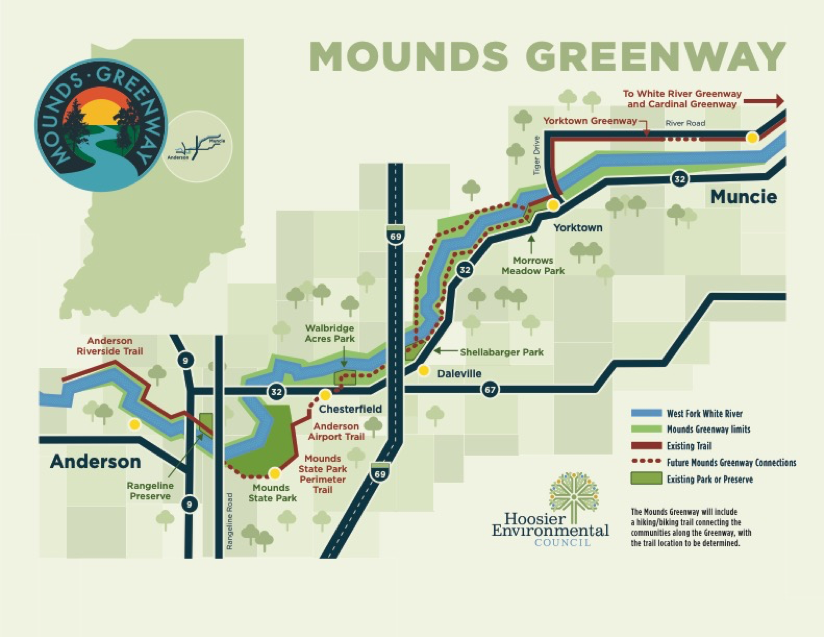 This is an image of the proposed Mounds Greenway.