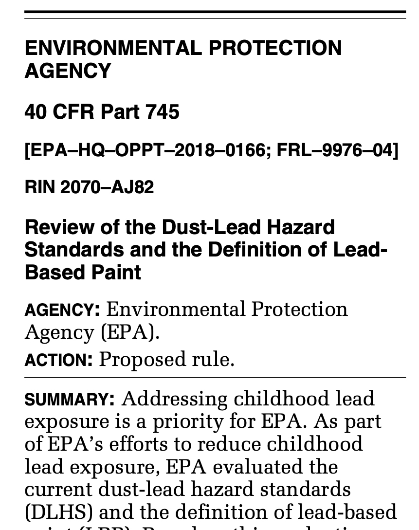 Coalition of Community Groups Sues EPA to Revise Lead Hazard