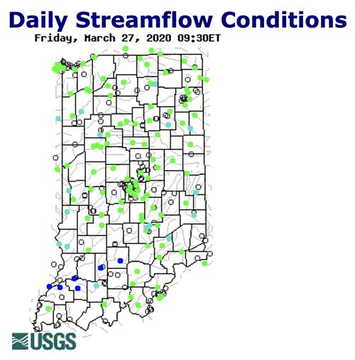 USGS streamflow readings